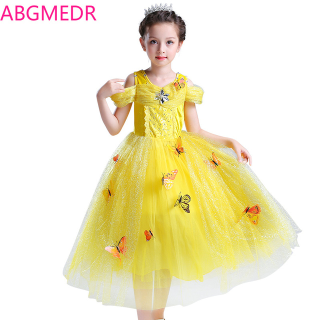 e405d8628 ABGMEDR Girls Dresses Spring Summer Children Princess Aurora Belle ...