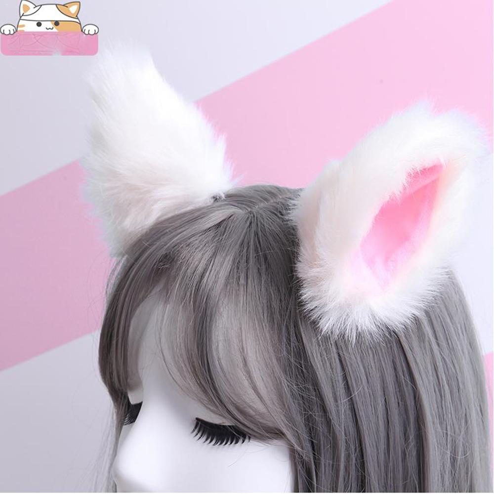 Apparel Accessories Funny Big Practical Lovely Sweet Plush Cat Ears Rabbit Ears Headband Hair Bands Face Makeup Headband Video Broadcast Props Be Novel In Design