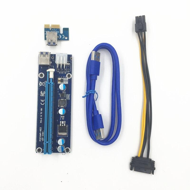 FUERAN PCIe VER 006C 16x tot 1x Powered Riser Adapterkaart met 60cm - Computer kabels en connectoren - Foto 2