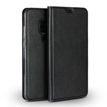 LUCKBUY For Huawei Mate 20 Ultra Thin Flip Case Slim Premium Genuine calfskin Leather for Pro Book Cases