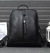 Мода 2017 г. Повседневная дорожные сумки Лидер продаж женские натуральная кожа рюкзаки простой известных дизайнеров рюкзаки
