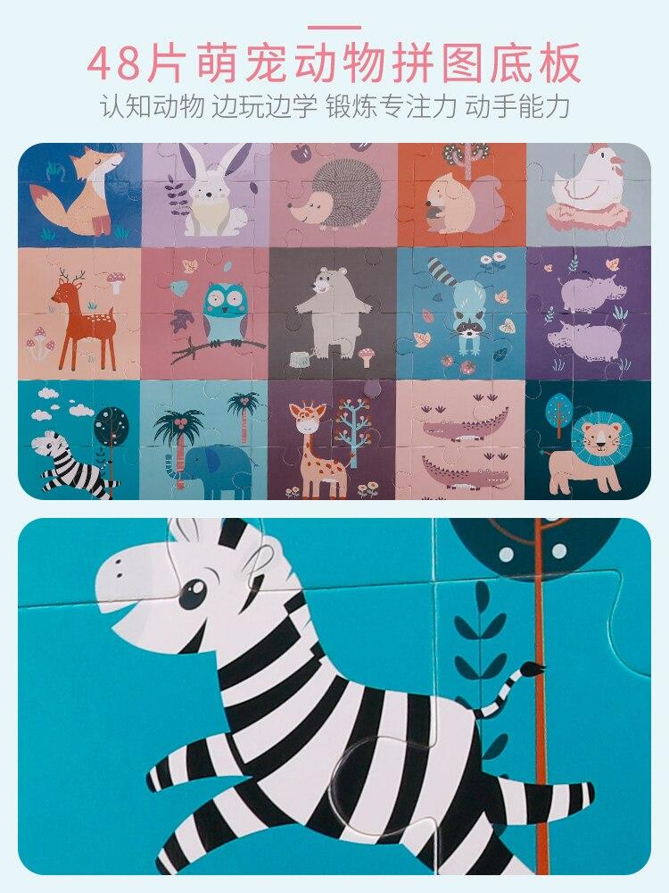Ant Infant kinder bausteine montage spielzeug 1 2 jahre alt baby große holz 3 6 jahre alt junge mädchen puzzle spiel - 3