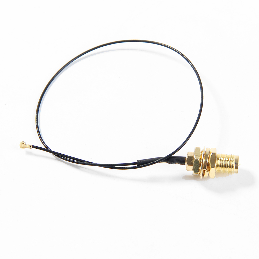 2Pcs U.FL IPEX MHF4 To RP-SMA 0.81mm RF Pigtail Cable Antenna For Intel AX200 9260NGW 8260NGW 8265NGW NGFF M.2 WiFi Card Router