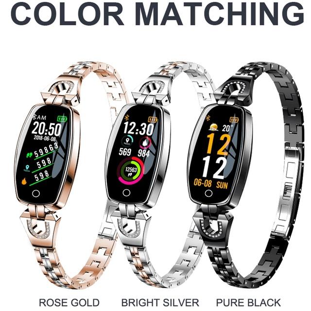 696 Woman H8 Smart Watch Bracelet Heart Rate Blood Pressure Watch Pedometer Waterproof Fitness Activity Tracker Bracelet