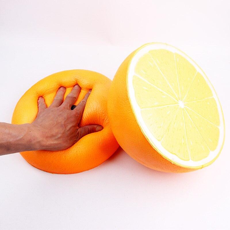 Accessoires Photo bébé 25 cm Fruit Orange spongieux cadeau de naissance extensible presser Kawaii Super grand Orange nouveau-né accessoires de photographie X