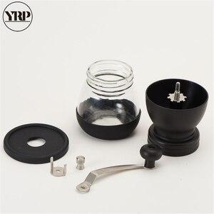 Image 4 - YRP Hand Keramik Grat Kaffee Bean Grinder mit Befestigten Glas Lagerung Jar Durable Cafe Bean Mühle Kaffee Maker Küche Werkzeuge