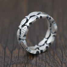 73f4bf13d53f Fnj 925 Plata anillo nueva moda real original s990 plata esterlina  tailandesa Anillos para las mujeres hombres joyería ee.uu. ta.