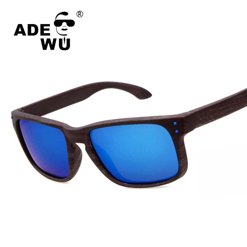 ADE WU Homens De Madeira Esporte Polarized Óculos De Sol Para Dirigir O  óculos de Sol do desenhador Para o Homem do Espelho Masculino Óculos de Sol  Óculos ... 00485343bc