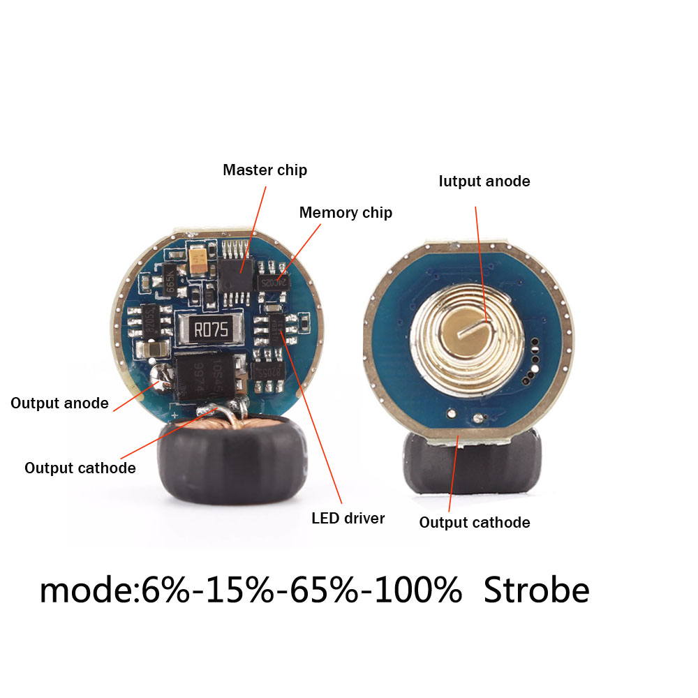 Controlador VG15 SF31, placa de circuito de 5 modos, función de memoria de modo Chip de Controlador LED antirretroceso Sofirn nuevo SD05 Buceo linterna LED LUZ DE BUCEO Cree xhp50,2 lámpara Super brillante 2550lm 21700 con interruptor magnético 3 modos
