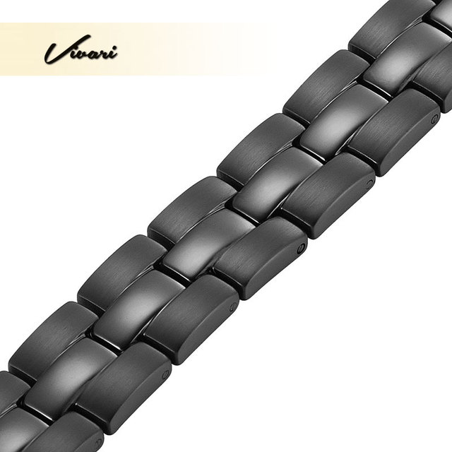 Vivari 2017 Bio Unisex 4in1 Magnet Stainless Steel Bracelet For Men Negative Ions Germanium Far Infra Red Women Bangle Wristband