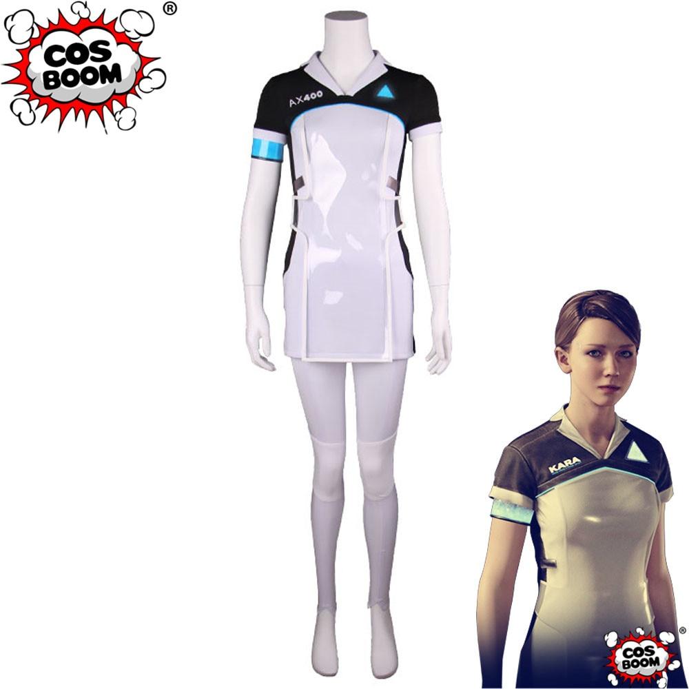 COSBOOM Game Detroit : Become Human Kara Cosplay Costume Women's AK400 KARA Dress Game Uniform Cosplay Costume