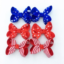 6PCS/SET 3 inches 4th of July Headband For 2019 Independence Day Hair Accessories Kids