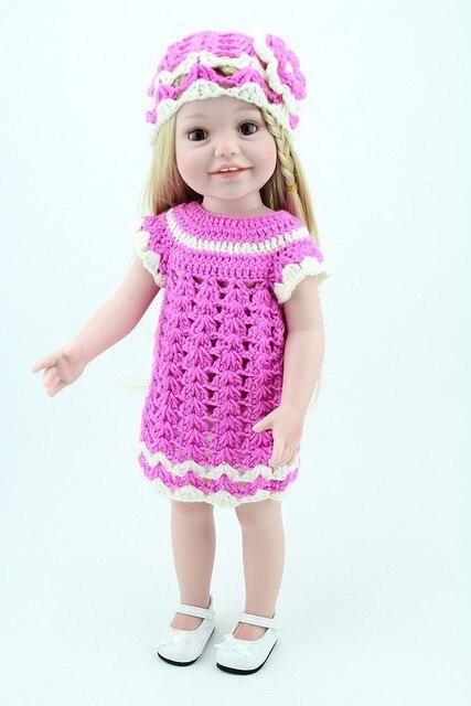 Новый дизайн 2016 топ популярных американских 18 дюймов кукла одежда корейский стиль розовый коротким рукавом платье игрушка подходит для 18 дюймов кукла