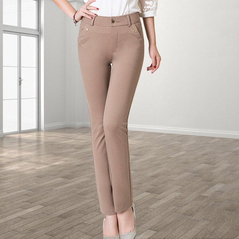 New Arrival Female Pencil Pants Spring Autumn Women's Trousers Lady's Full Length Stretchy <font><b>Comfy</b></font> <font><b>Casual</b></font> Pants Plus Size