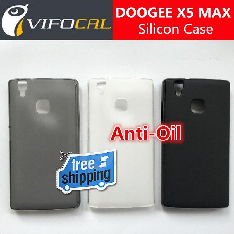 Doogee x5 max pro case mate tpu de silicio 100% original cómodo protector de la
