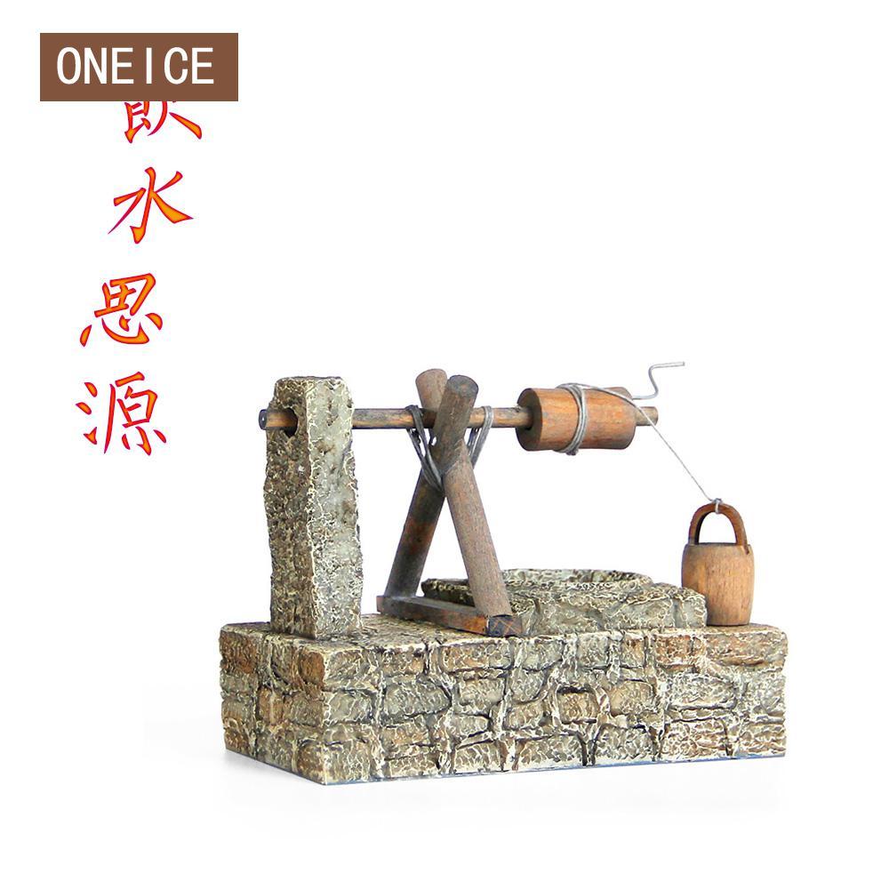 Sakai salon décorations chanceux Feng Shui ornements créatifs à la main Mini outils de ferme pour les personnes âgées