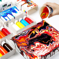 4color/set fluid paint creative liquid painting decorative liquid DIY hand painted drawing acrylic liquid paint art tools