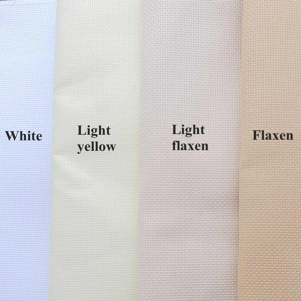 ضوء الكتان البيج الضوء الأصفر عايدة القماش 14ct عبر غرزة قماش قماش Diy بها بنفسك اليدوية التطريز غرز لوازم الحرفية أقمشة عايدة Aliexpress