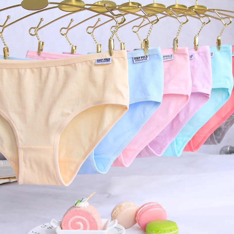 4 قطعة/الوحدة لون الحلوى طفل الفتيات سراويل الملابس الداخلية Soild ملخصات القطن الملابس الداخلية لينة مريحة PantyNH0008