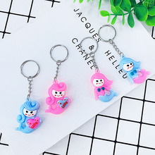 New PVC soft glue cute cartoon love letter mermaid styling key buckle pendant girl bag car toy small Gift