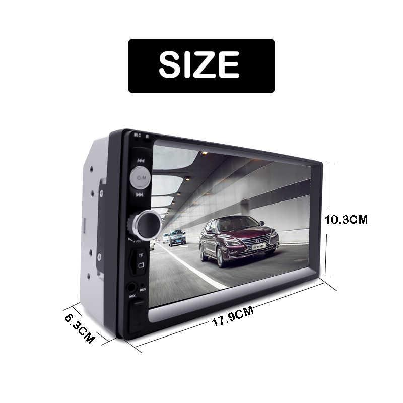 """2 Din カーラジオ Autoradio 7 """"HD マルチメディアプレーヤータッチスクリーンの自動オーディオ、カーステレオ MP5 Bluetooth USB TF FM カメラダブル Din"""