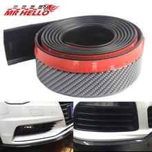 купить mr 2.5m/8.2ft Universal Car Front Bumper Lip Splitter Carbon Fiber Car Rubber Bumper Spoiler Protector Car Bumper Strip дешево