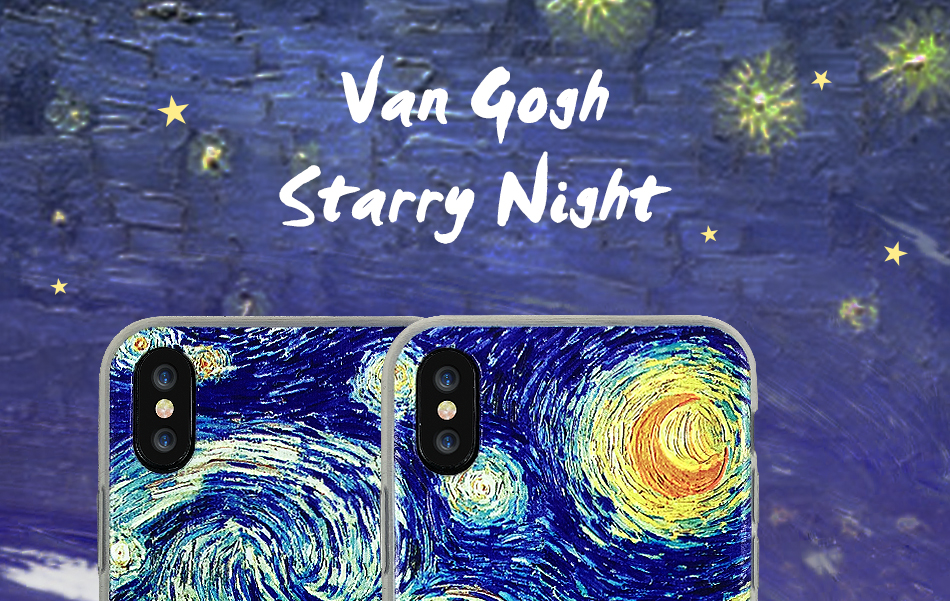 stylish iphone case cover 3d van gogh starry night design reva 5