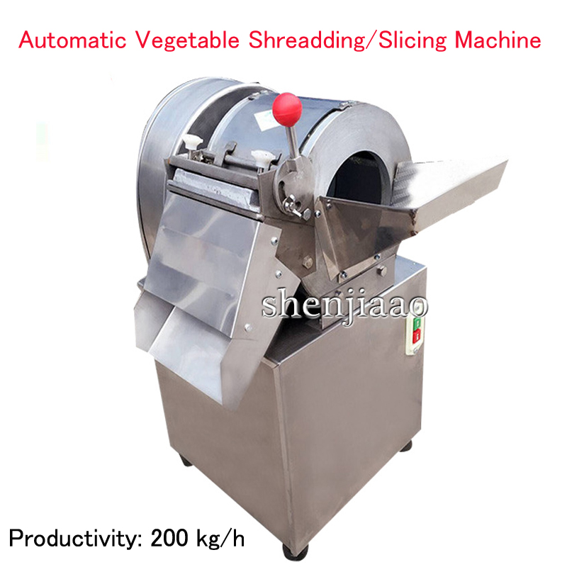 Electric Vegetable Cutting Machine 200 kg/h Automatic Vegetable Shreadding/Slicing Machine Commercial Vegetables Cutter commercial vegetable slicer onion slicing machine electric vegetable potatoes cutter carrots cutting machine 660 type