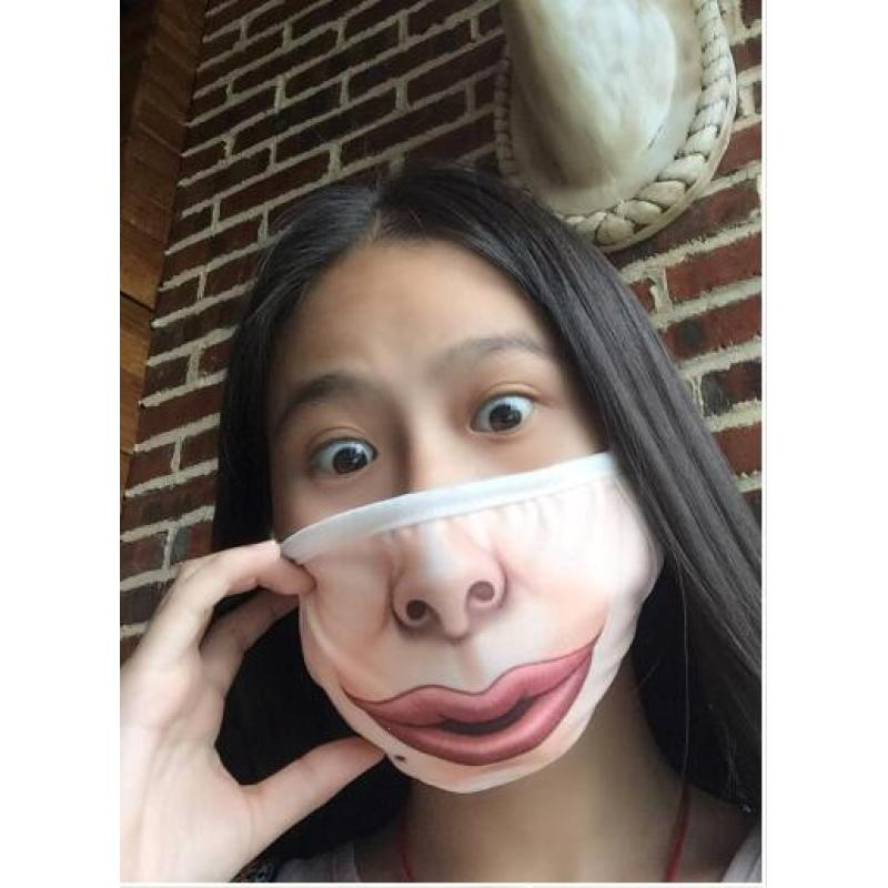 Creative Mask Big Mouth Cotton Funny Face Mask Anti Dust Anti-fog Expression Festive Party Cosplay Face Cover L3
