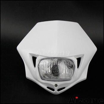 Dirt Bike 35W White Headlight Headlamp Fairing Mask For Suzuki Yamaha Honda DRZ DR KX KLX EXC XCW XT WR YZ YZF TW Universal