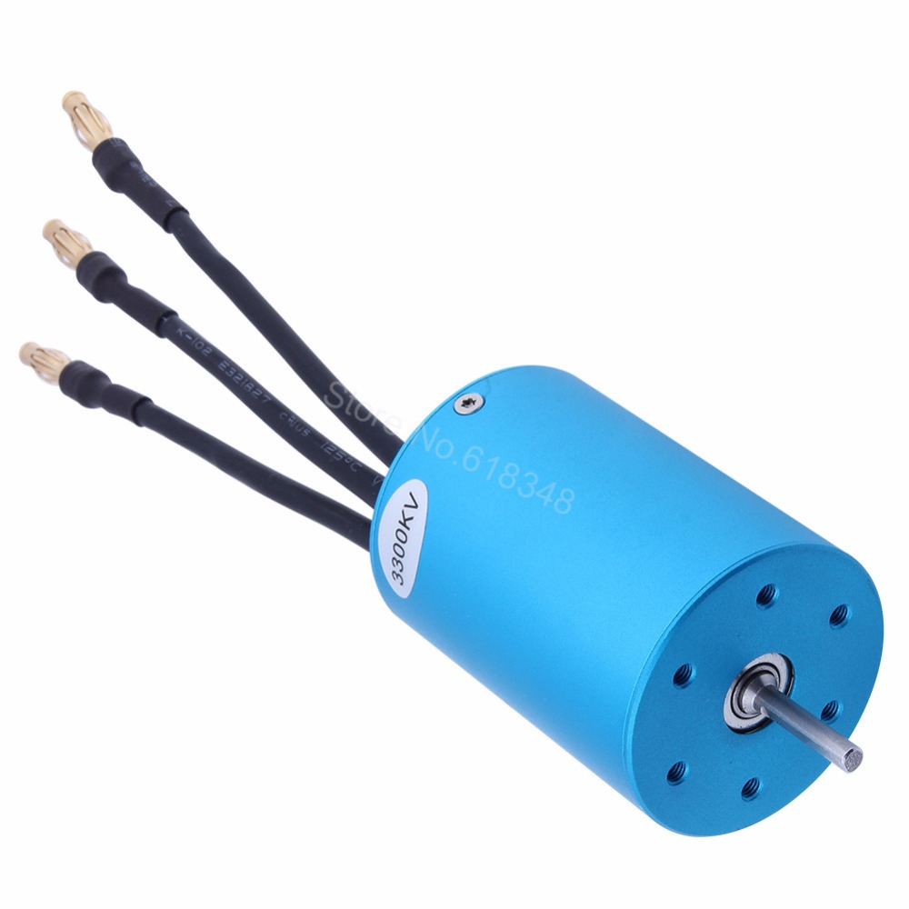 HSP 03302 540 Brushless Motor 3300KV Electric Engine 3650 For 1/10 RC Buggy Monster Truck Redcat Volcano EPX 94111 Exceed Himoto 03011 rs540 26 turn 540 motor rc car hsp 1 10 scale models brushed electric motor brush for himoto redcat remote control cars