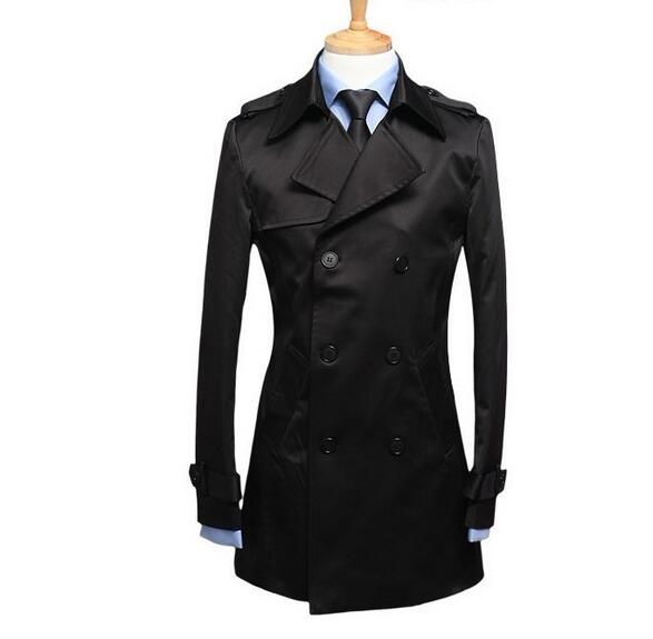 eed6c65864d Black blue khaki plus size S - 9XL spring autumn mens trench coat men  business casual fashion ...