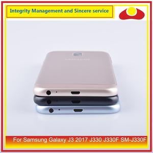 Image 3 - Original For Samsung Galaxy J3 2017 J330 J330F SM J330F Housing Battery Door Rear Back Cover Case Chassis Shell J330 Replacement