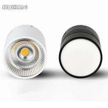 Round Surface Mounted LED Downlights 15W 20W 30W Ceiling Lamps Spot Light driverless Down black / white body