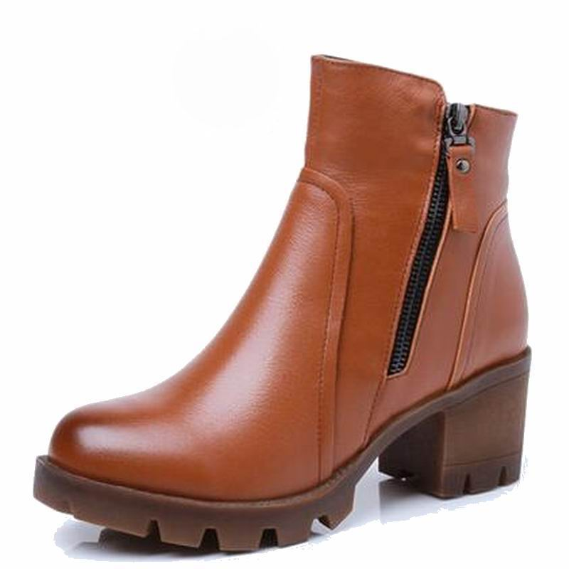 2019 automne hiver femmes bottines nouvelle mode laine fourrure chaude femme neige bottes pour dames chaussures grande taille 34 40-in Bottines from Chaussures    2