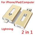 Para el iphone, Plug And Play Rayo OTG USB Flash Drive de Tarjeta de Memoria Usb 32 GB 64 GB 128 GB 512 GB Del Flash Del Palillo de Disco En Clave Pendrives