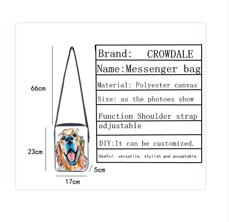 CROWDALE Women Crossbody Bags Marine life Printing for Kids Girls Casual Mini Female Children Messenger Bags Bolsos Mujer 5