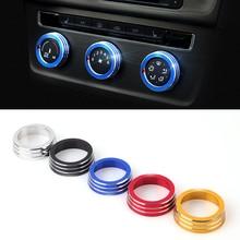 2016 Car font b Styling b font Aluminum 3PCS SET Air Conditioning Heat Control Switch knob