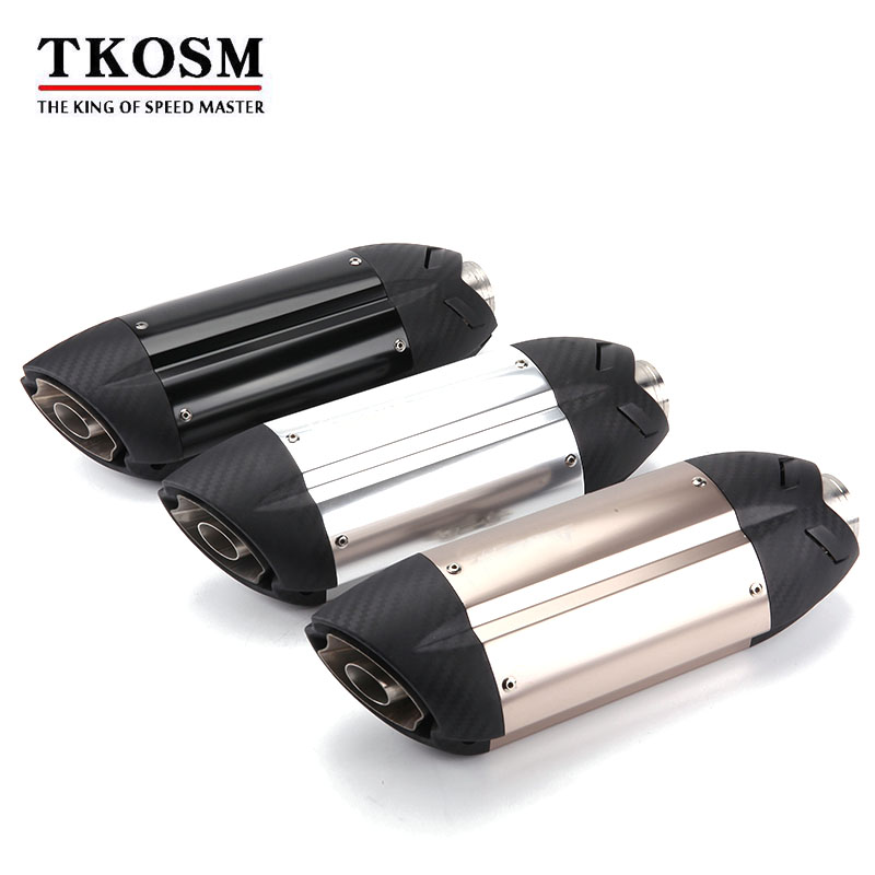 TKOSM Motorcycle Sports Modified MT07 09 for 10RZX6R10R Z800 Devil MIVV Sticker Exhaust Pipe 36-51mm Universal Ninjia ER6N Z1000 universal motorcycle slip on mivv exhaust for most exhaust mt07 09 for 10rzx6r10r z800 ninjia er6n z1000