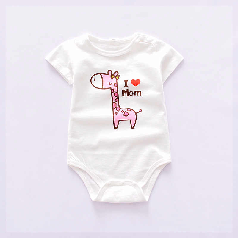 0-12M Unisex Top Quality Baby Rompers Short Sleeve Cottom O-Neck Novel Newborn Boys Girls Roupas De Baby Clothing Playsuit