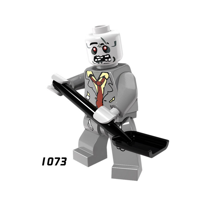 Single Sale Super Heroes Star Wars 1073 Zombies Model Mini Building Blocks Figure Brick Toys Kids Gift Compatible Legoed Ninjaed