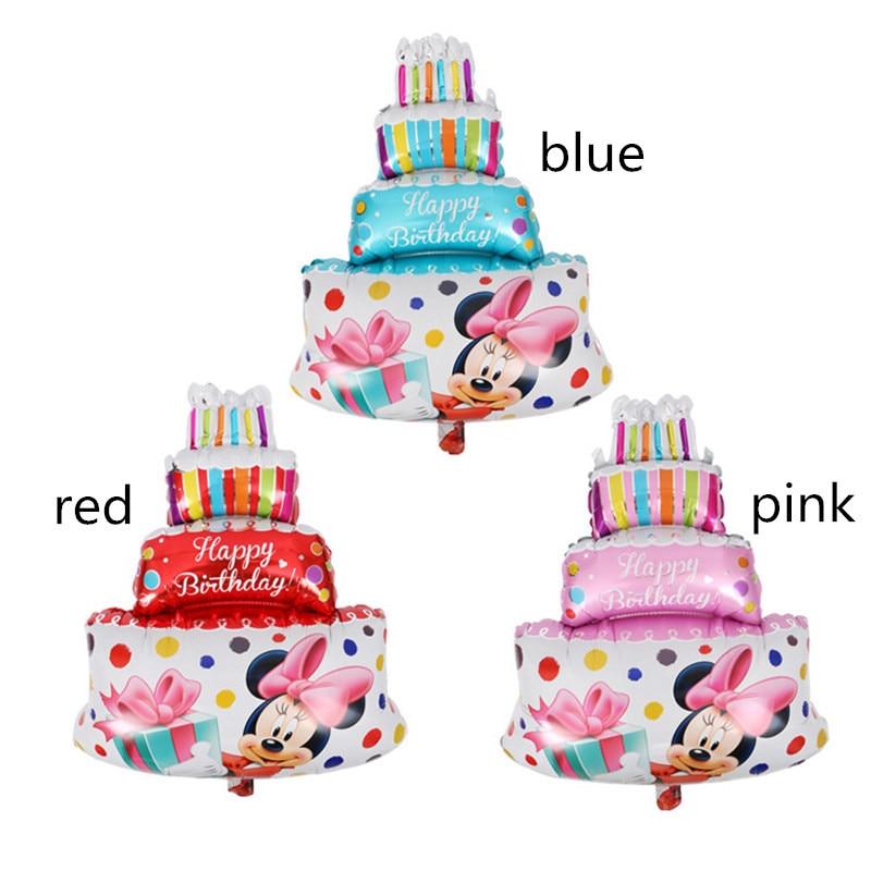 Fabulous New Mickey Minnie Birthday Cake Foil Balloons Wedding Decor Personalised Birthday Cards Epsylily Jamesorg