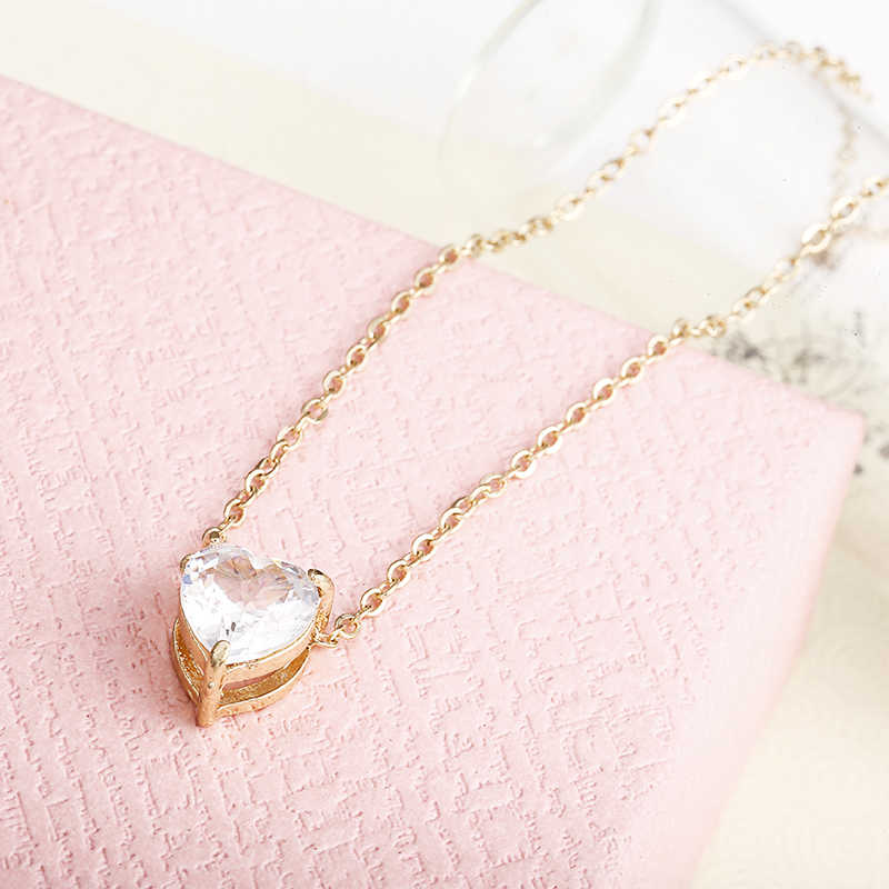 x41 Brand Stella DOUBLE HORN PENDANT HEART NECKLACE GOLD Dot LUNA Necklace Women Phase Heart Necklace Drop shipping