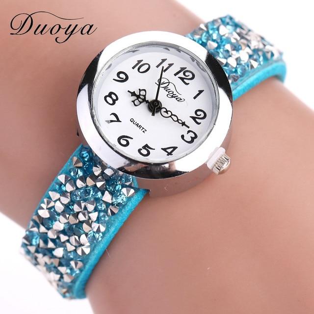 Duoya Ladies Dress Watches Luxury Brand Women's Bracelet Watches Quartz Watch Fo