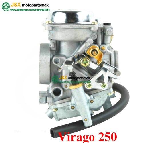 US $49 5 |XV250 XV125 QJ250 XV 250 XV 125 Aluminum Carburetor Assy For  Yamaha Virago 250 XV250 Route 66 1988 2014 2010 09 XV 250-in Carburetor  from