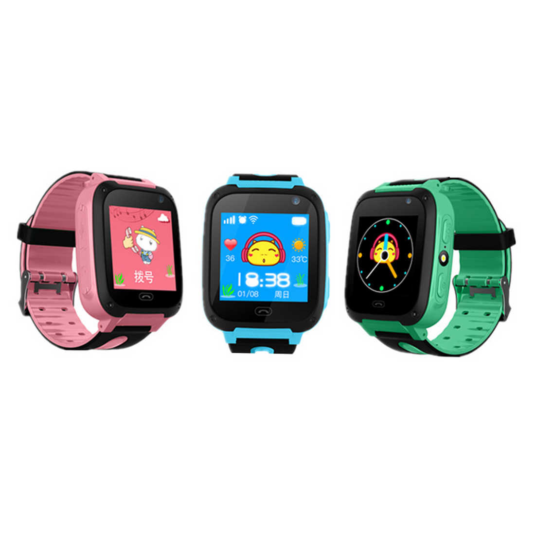 Waterproof GPS Child Smart Watch Touchscreen Support SIM Card SOS Camera Locator Kids Smartwatch for iPhone Samsung