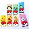 Capa charmander fundas de bolsillo caja del teléfono para iphone 6 6 pikachus s pokemon bolas cubierta del teléfono para apple iphone 6 6 s plus shell