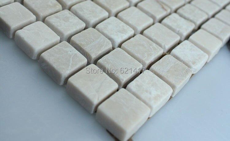 cream-colored marble stone mosaic <font><b>tiles</b></font>,kitchen or balcony wall <font><b>tiles</b></font>, floor mosaic <font><b>tiles</b></font>, wall <font><b>tiles</b></font>, free shipping