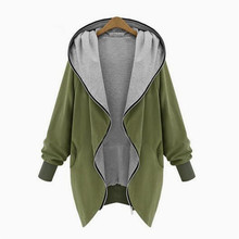 2016 Europe and America Fashion Casual Hooded Large Size Women Autumn Increase Thin Jackets Women outerwear coats