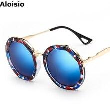 Aloisio Plastic Sunglasses Women Colorful Mirror UV400 Lady Glasses Retro Round Frame Eight-square Lense Oculos AL380